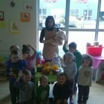 Sharon Moyles and Children at the Easter Camp 2014