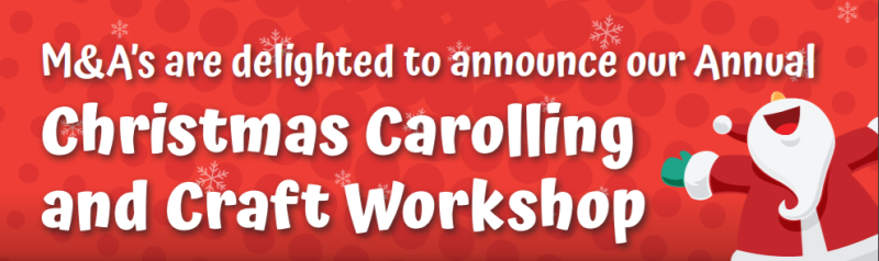 Christmas Carrolling and Craft Workshop