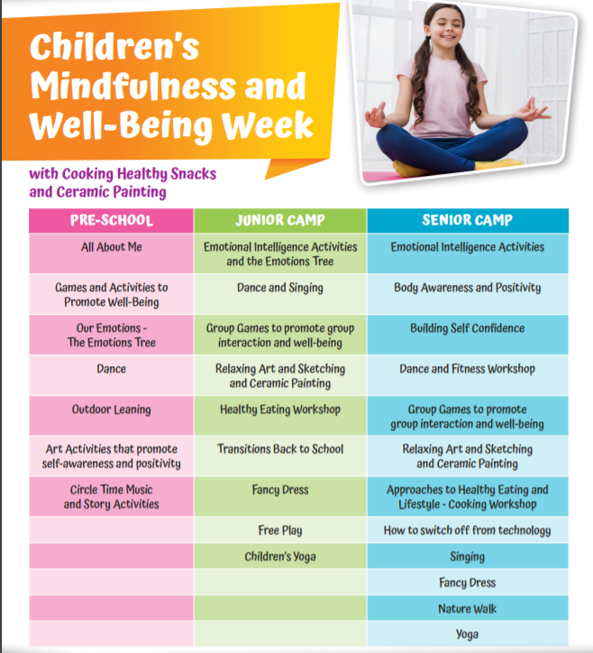 19th - 23r aUGUST Childrens Mindfulness and Wellbeing Camp 2019