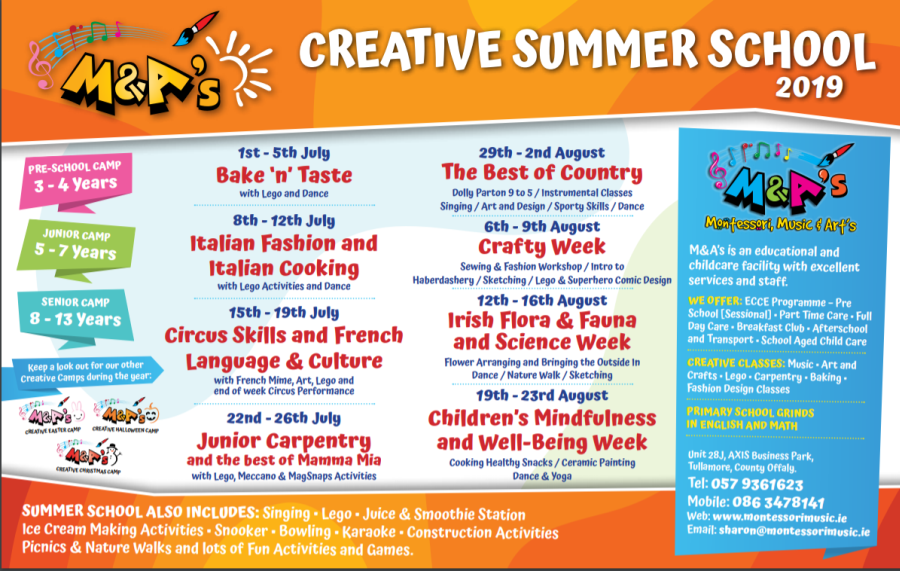 Creative Summer School/ Summer Camps 2019