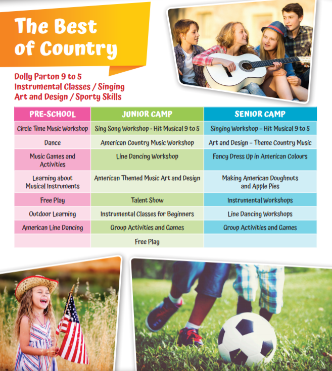 29th July - 2nd August 2019 The Best of Country Camp
